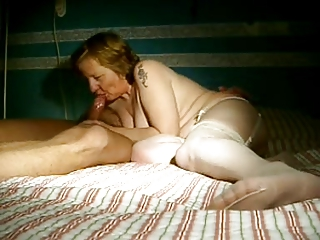 Amateur Granny DP With Husband and Young Friend