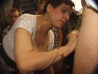 Nathalie french mature banged in a libertines club