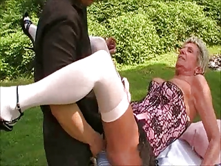 GRANNY SHIRLEY MASTERBATING AND FUCKED ON PICNIC TABLE