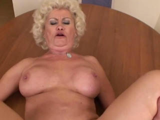 Old granny mature gets horny