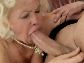 Old granny mature has a greedy throat