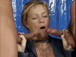 german granny DP fuck