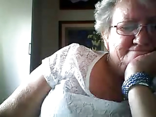Grandma showing big tits on webcam