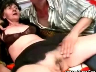 Granny blowjob n denture sex