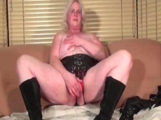 Nasty blonde with amazing tits is a hot granny