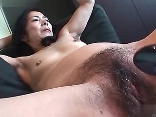 Amateur rides modified dildo for her tight pussy - 2 part 2