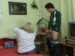 Cock-hungry grandma gets pounded by a lad