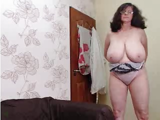Webcams 2014 - Granny with MASSIVE TITS 3