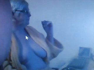 Webcam granny with her lover