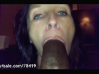 White Girl Barely Fits BBC In Her Mouth