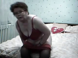 ! Granny horny masturbating and orgasm