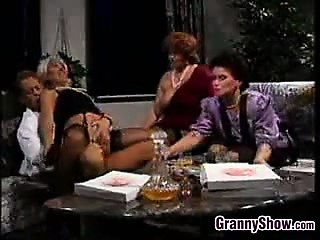 Grandmas Having Group Sex With A Younger Guy