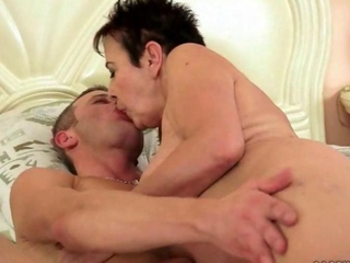 Granny enjoying nasty sex with her younger boyfriend