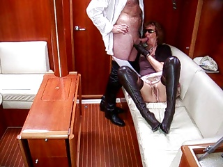 Mature Lady thigh boots blowjob poem 2