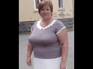 Tatiana, Russian Granny, 60 yo, with big boobs! Amateur!