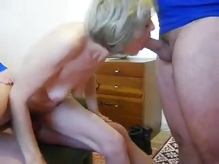 Amateur Granny Has Threesome With Young Strangers